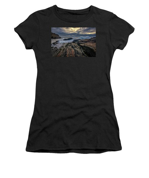 Women's T-Shirt (Junior Cut) featuring the photograph Dawn At Bald Head Cliff by Rick Berk