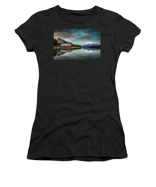 Dawn At Maligne Lake Women's T-Shirt