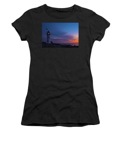 Dawn At Scituate Light Women's T-Shirt (Athletic Fit)