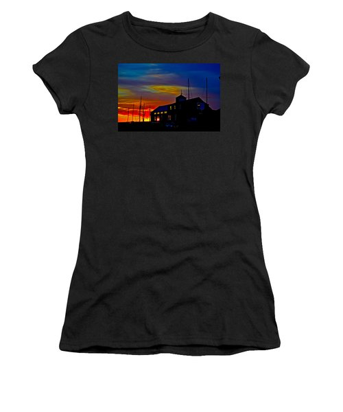 Dawn At The Boatbuilder  Women's T-Shirt (Athletic Fit)