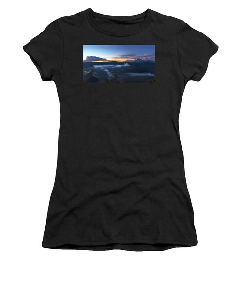 Dawn Breaking Scene Of Mt Bromo Women's T-Shirt