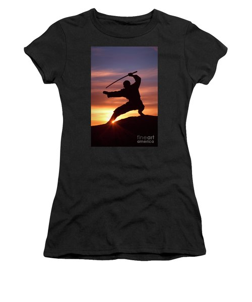 Women's T-Shirt (Athletic Fit) featuring the photograph Dawn Of The Ninja by Brad Allen Fine Art