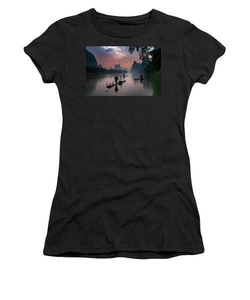 Waiting For Sunrise On Lee River. Women's T-Shirt