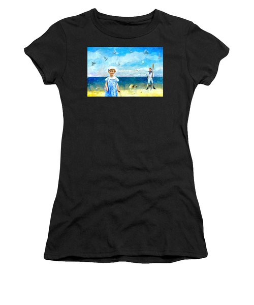 Day At The Shore Women's T-Shirt (Athletic Fit)