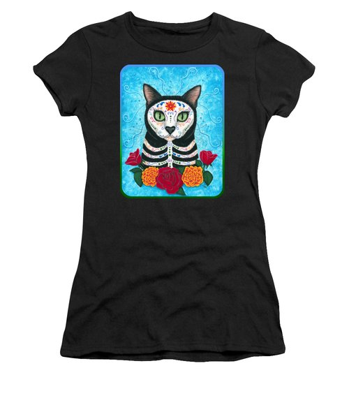 Day Of The Dead Cat - Sugar Skull Cat Women's T-Shirt