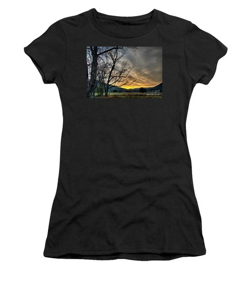 Women's T-Shirt (Junior Cut) featuring the photograph Daybreak In The Cove by Douglas Stucky