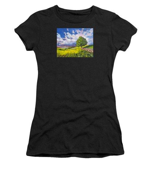 Dazzling Sky Pallet Knife Women's T-Shirt (Athletic Fit)