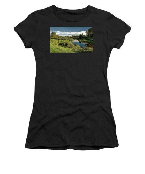 De Boville Slough At Pitt River Dike Women's T-Shirt (Athletic Fit)