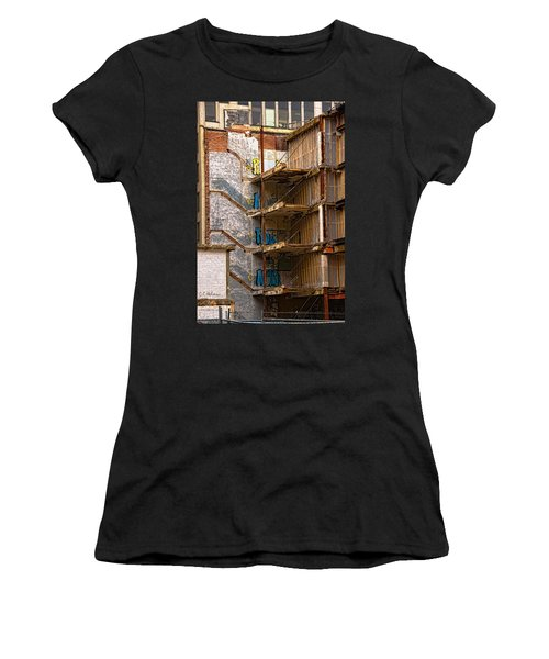 Women's T-Shirt featuring the photograph De-construction by Christopher Holmes