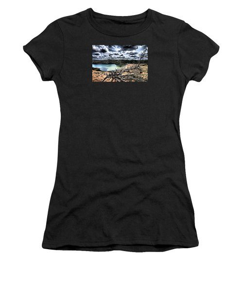 Dead Nature Under Stormy Light In Mediterranean Beach Women's T-Shirt (Junior Cut) by Pedro Cardona
