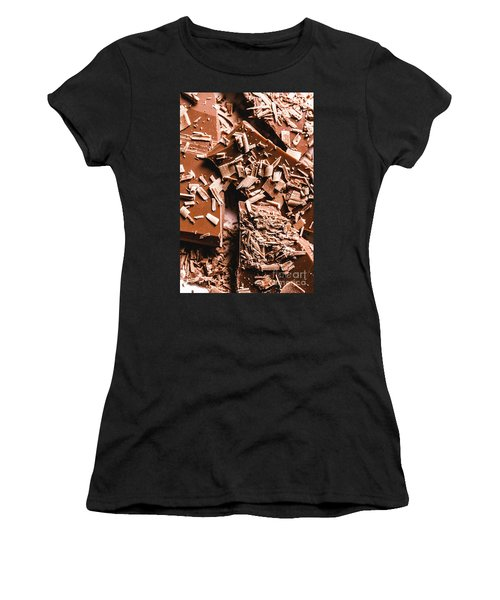 Decadent Chocolate Background Texture Women's T-Shirt