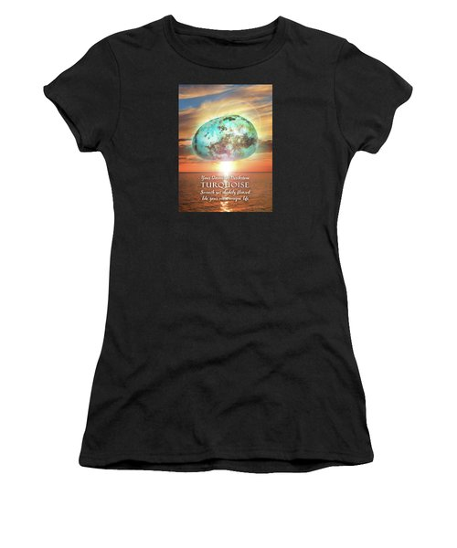 December Birthstone Turquoise Women's T-Shirt (Athletic Fit)