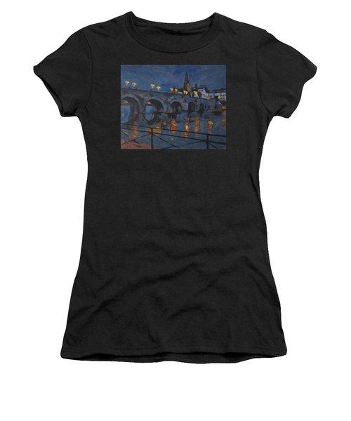 December Lights Old Bridge Maastricht Acryl Women's T-Shirt