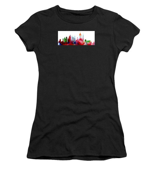 Decorative Skyline Abstract New York P1015c Women's T-Shirt