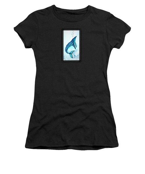 Deep Blue Women's T-Shirt (Athletic Fit)
