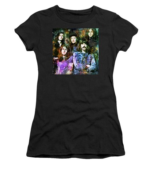 Deep Purple Together Women's T-Shirt (Athletic Fit)