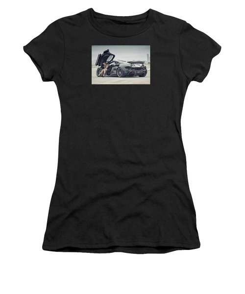 Women's T-Shirt featuring the photograph Deep Thoughts by ItzKirb Photography