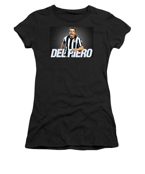 Del Piero Women's T-Shirt (Junior Cut) by Semih Yurdabak