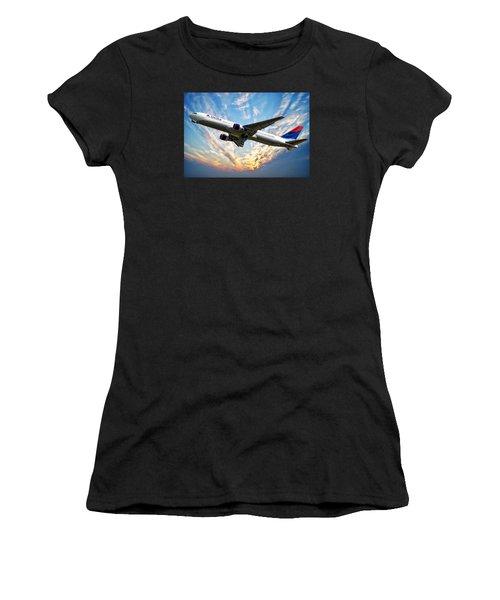 Delta Passenger Plane Women's T-Shirt (Athletic Fit)