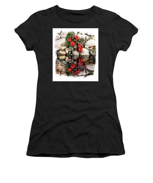 Denali National Park Flowers Women's T-Shirt (Athletic Fit)