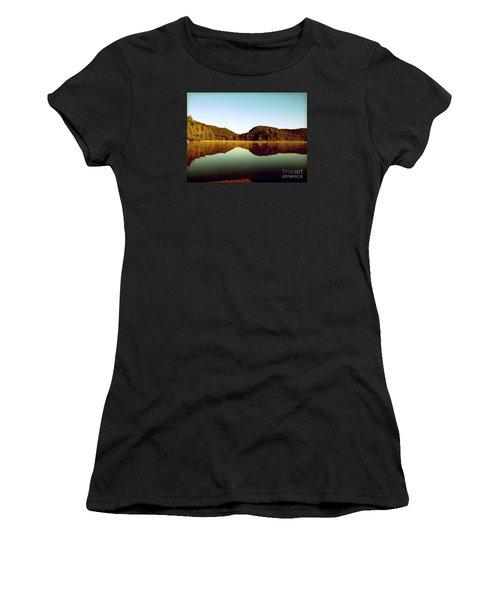 Denholm Lake Women's T-Shirt (Junior Cut) by France Laliberte