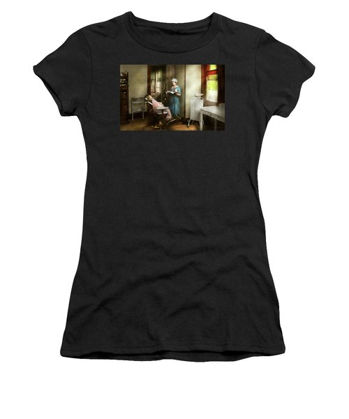 Women's T-Shirt (Athletic Fit) featuring the photograph Dentist - Patients Is A Virtue 1920 by Mike Savad