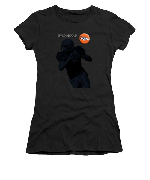 Denver Broncos Football Women's T-Shirt (Athletic Fit)