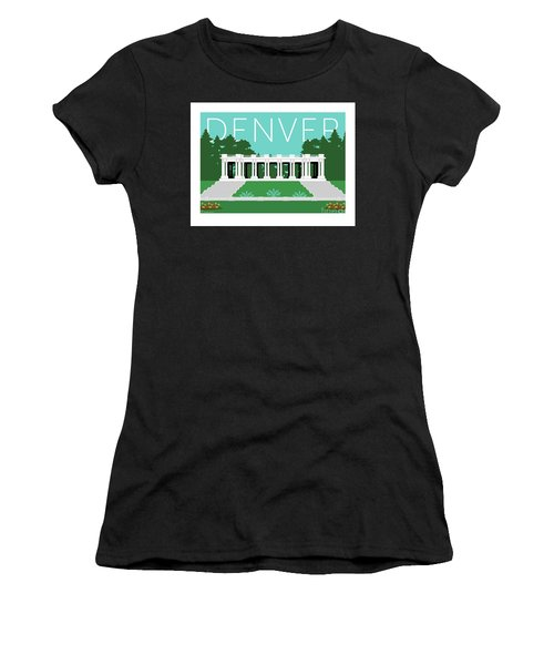 Denver Cheesman Park/lt Blue Women's T-Shirt (Athletic Fit)