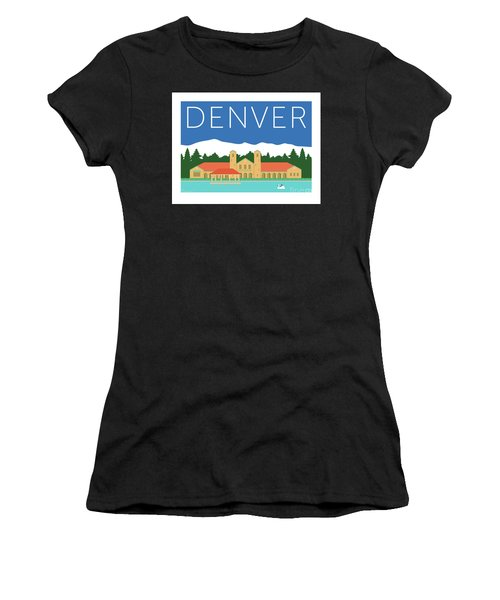 Denver City Park/blue Women's T-Shirt (Athletic Fit)