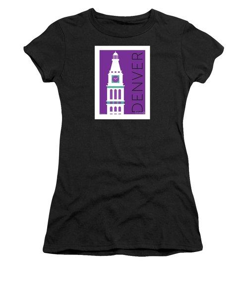 Denver D And F Tower/purple Women's T-Shirt