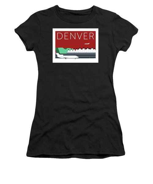 Denver Dia/maroon Women's T-Shirt (Athletic Fit)