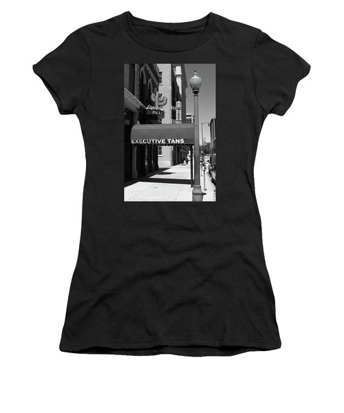 Denver Downtown Storefront Bw Women's T-Shirt (Junior Cut) by Frank Romeo