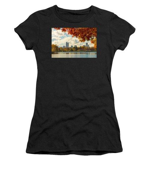 Denver Skyline Fall Foliage View Women's T-Shirt