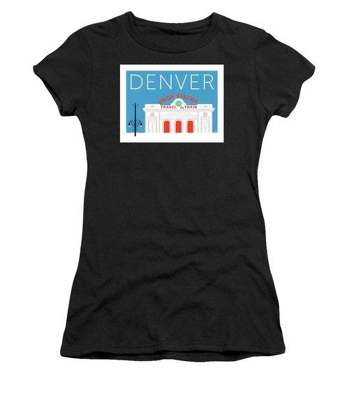 Denver Union Station/blue Women's T-Shirt
