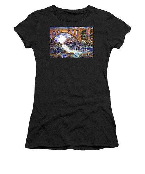 Depoe Bay Bridge Women's T-Shirt (Athletic Fit)