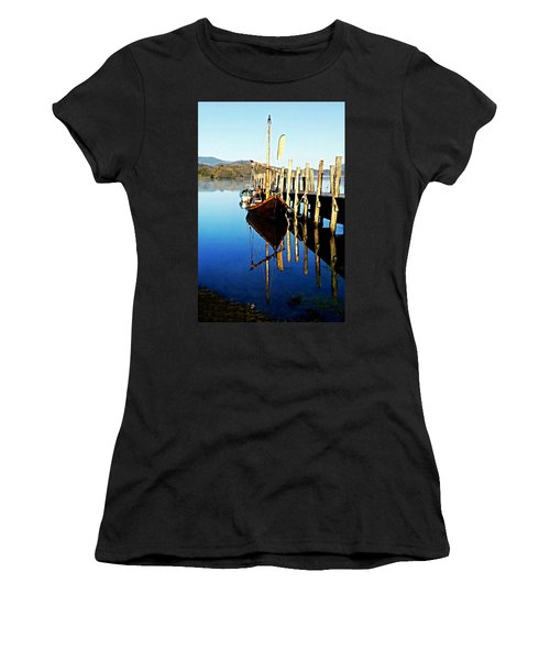 Derwent Water Boat Women's T-Shirt (Athletic Fit)