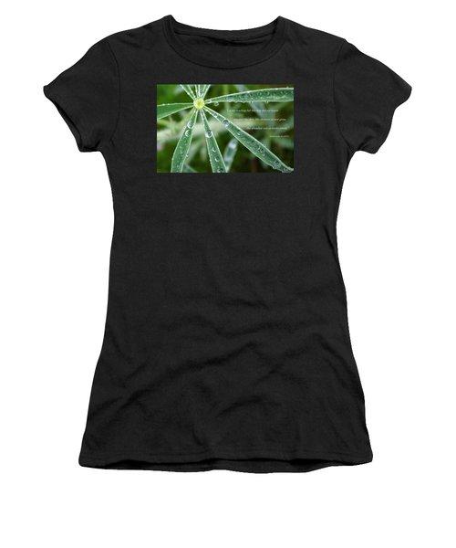 Descending Words Like Dew Women's T-Shirt (Athletic Fit)