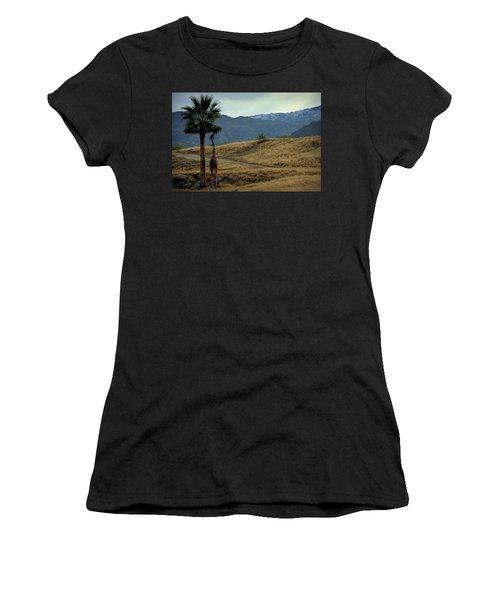 Desert Palm Giraffe 001 Women's T-Shirt