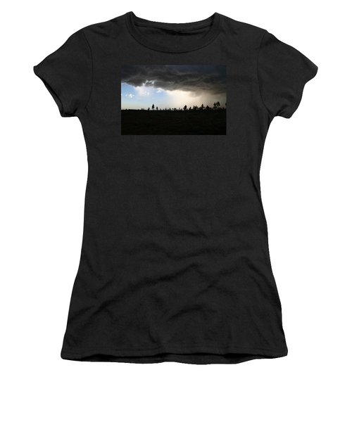 Women's T-Shirt (Athletic Fit) featuring the photograph Desert Storm Near Uluru In The Northern Territory by Keiran Lusk