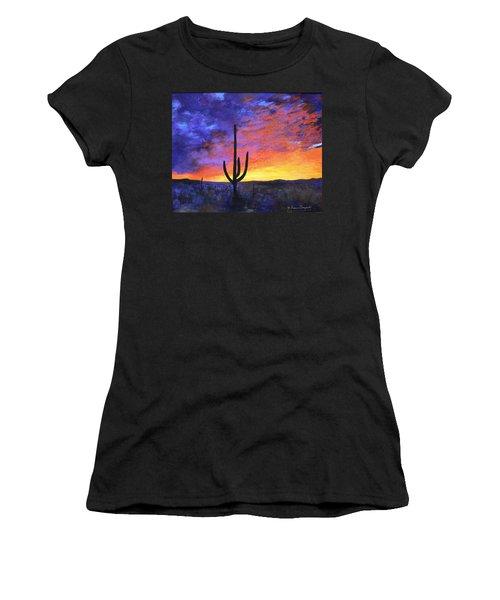 Desert Sunset 4 Women's T-Shirt (Athletic Fit)