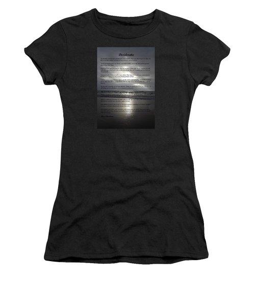 Desiderata 12 Women's T-Shirt (Athletic Fit)