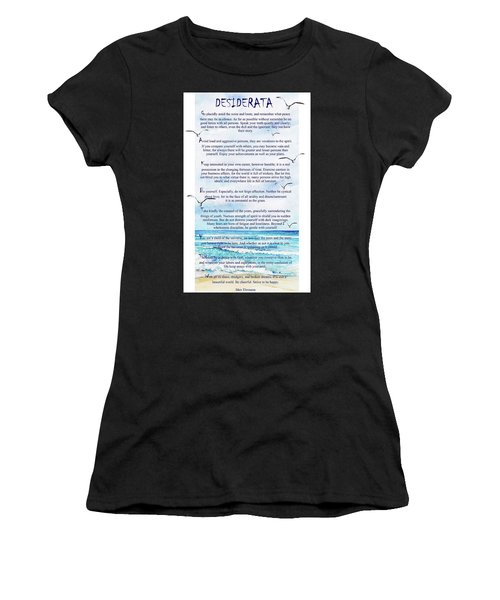 Desiderata Women's T-Shirt (Athletic Fit)