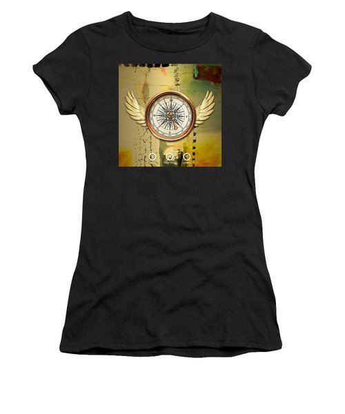 Women's T-Shirt (Athletic Fit) featuring the mixed media Destination by Marvin Blaine