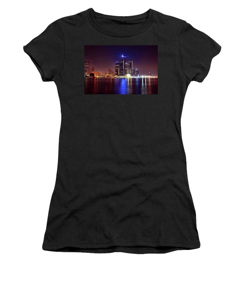 Detroit Skyline 4 Women's T-Shirt (Junior Cut) by Gordon Dean II