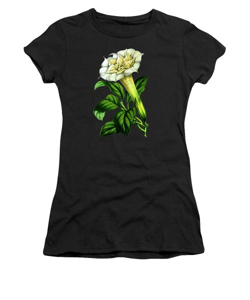 Devil Trumpet Datura Fastuosa Women's T-Shirt (Athletic Fit)