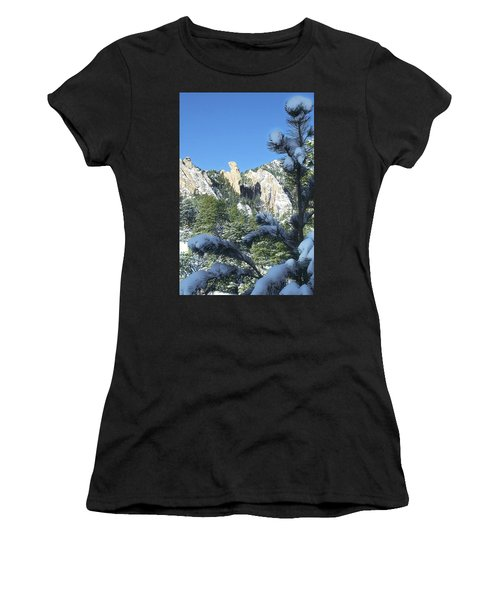 Devil's Thumb In Winter Women's T-Shirt