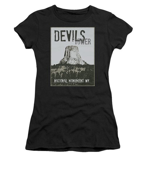 Devils Tower Stamp Women's T-Shirt
