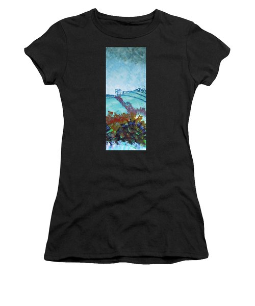 Devon Landscape Painting - Hills Near Exeter Women's T-Shirt
