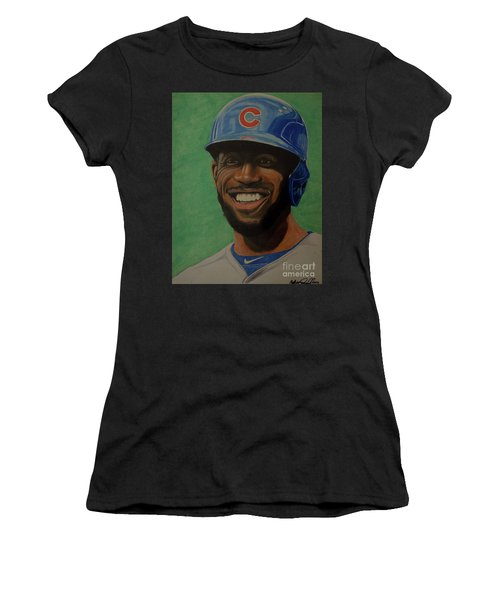 Dexter Fowler Portrait Women's T-Shirt (Junior Cut) by Melissa Goodrich