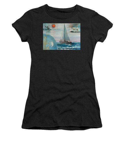 Ireland Canada Links..'' Northabout '' Rounding The North West Passage Women's T-Shirt